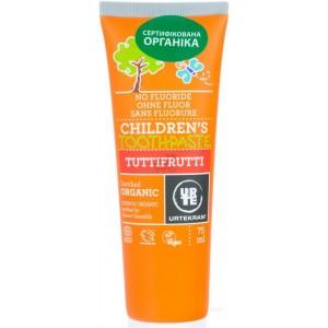Urtekram, Органическая детская зубная паста Тутти-Фрутти от 6 лет, 75 мл (сертифицирована Экосерт и Космос органик)