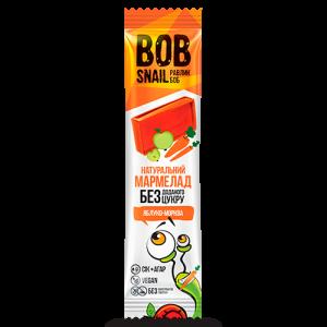 BOB SNAIL Равлик Боб, Натуральный мармелад БЕЗ САХАРА Яблоко-морковь, 38г