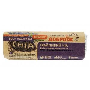 ДОБРОЇЖ, Корисний батончик Грайливий чіа, 50г