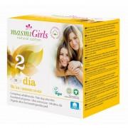 MASMI, Прокладки GIRL ультратонкие гигиенические для подростков или для поглощения нормальных выделений, с крылышками, 10 шт.