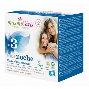 MASMI, Прокладки GIRL ультратонкие гигиенические для подростков или для поглощения сильных выделений, с крылышками, 10 шт.