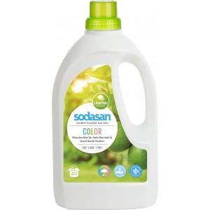 Sodasan, Organic Жидкое средство Color для стирки цветных и черных вещей, со смягчителем воды (от 30°), 1,5 л = 20 стирок = 68-135 кг вещей