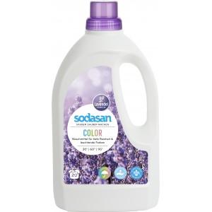 Sodasan, Organic Жидкое средство Color LAVENDER для стирки цветных и черных вещей, со смягчителем воды и кондиционером (от 30° до 95°), 1,5 л = 20 стирок = 68-135 кг вещей