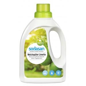 Sodasan, Organic Органический Смягчитель / Ополаскиватель тканей Fabric Softener ЛАЙМ для быстрой глажки, 0,75 л = 20 циклов стирки