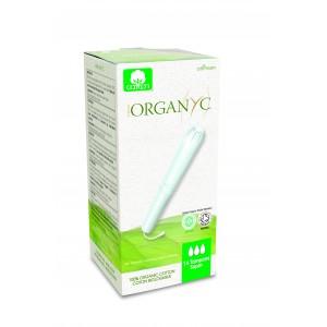 Corman Organyc, Тампони з органічної бавовни з аплікатором SUPER для помірних виділень (3 крапельки), 14 шт.