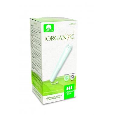 Corman Organyc, Тампоны из органического хлопка с аппликатором SUPER для умеренных выделений (3 капельки), 14 шт.