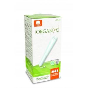 Corman Organyc, Тампони з органічної бавовни з аплікатором SUPER PLUS для сильних виділень (4 крапельки), 14 шт.