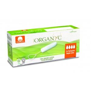 Corman Organyc, Тампоны из органического хлопка без аппликатора SUPER PLUS для сильных выделений (4 капельки), 14 шт.