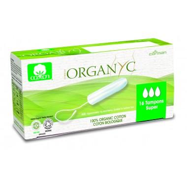 Corman Organyc, Тампони з органічної бавовни без аплікатора SUPER для помірних виділень (3 крапельки), 16 шт.