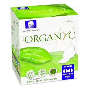 Corman Organyc, Гігієнічні прокладки з крильцями для інтенсивних виділень (4 крапельки) в індивідуальній упаковці, 10 шт.