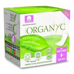 Corman Organyc, Ежедневные гигиенические прокладки в индивидуальной упаковке для незначительных выделений (1 капелька), 24 шт.
