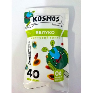 KOSMOS, Натуральний батончик ЯБЛУКО життєвий тонус, 40г