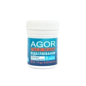 """AGOR (АГОР), Полисахаридная маска """"ОТБЕЛИВАНИЕ"""", 8 гр (5 масок)"""