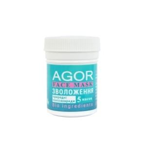 """AGOR (АГОР), Полисахаридная маска """"УВЛАЖНЕНИЕ"""", 8 гр (5 масок)"""