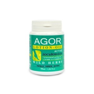 AGOR (АГОР), Лосьйон-масло для стоп і п'ят Wild Herbs, 50мл