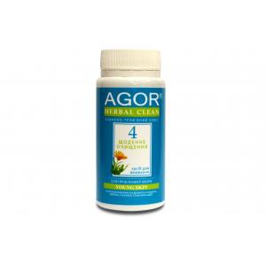 AGOR (агора), Сухе засіб для вмивання Щоденне очищення №4 для проблемної шкіри НА ОСНОВІ злаків і трав, 65 гр