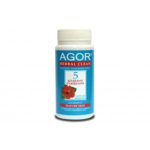 AGOR (АГОР), Сухое средство для умывания Ежедневное очищение №5 для кожи 30+ НА ОСНОВЕ ЗЛАКОВ И ТРАВ, 65 гр