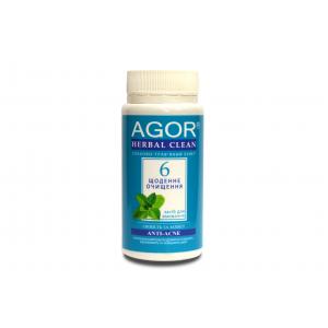 AGOR (агора), Сухе засіб для вмивання Щоденне очищення №6 для вікової, проблемної, жирної шкіри НА ОСНОВІ злаків і трав, 65 гр