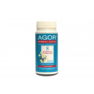 AGOR (агора), Сухе засіб для вмивання Щоденне очищення №8 для чутливої шкіри НА ОСНОВІ злаків і трав, 65 гр