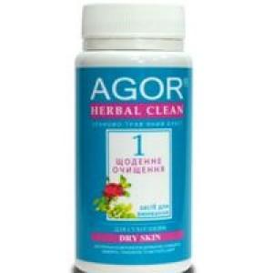 AGOR (агора), Сухе засіб для вмивання Щоденне очищення №1 для сухої шкіри НА ОСНОВІ злаків і трав, 65 гр