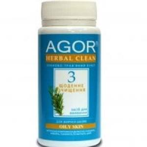 AGOR (агора), Сухе засіб для вмивання Щоденне очищення №3 для жирної шкіри НА ОСНОВІ злаків і трав, 65 гр
