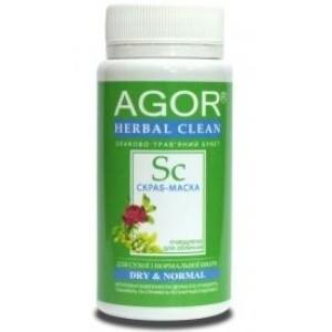 AGOR (АГОР), Скраб-маска ОЧИЩАЄ, для сухої і нормальної шкіри НА ОСНОВІ злаків і трав, 65 гр