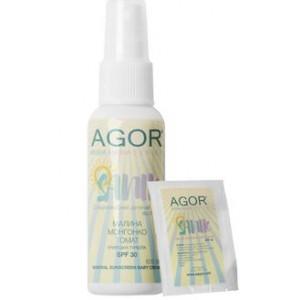 AGOR (АГОР), Солнцезащитный детский крем SANIC SPF30, 60мл