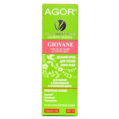 AGOR (АГОР), Крем GIOVANE для жирной, комбинированной и проблемной кожи с SPF 14, 50мл