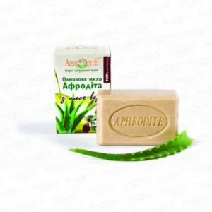 APHRODITE, Натуральное Оливковое мыло с АЛОЭ ВЕРА, 125г