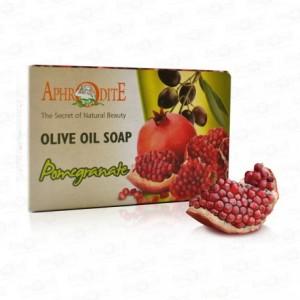 APHRODITE, Натуральное Оливковое мыло с ЭКСТРАКТОМ ГРАНАТА, 100г
