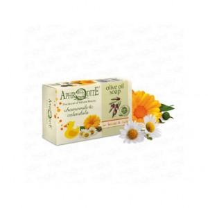 APHRODITE, Натуральне Оливкове мило з ромашки та календули, 100г