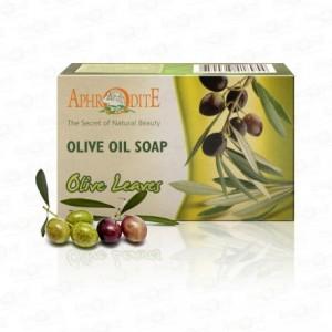 APHRODITE, Натуральное Оливковое мыло с ОЛИВКОВЫМИ ЛИСТЬЯМИ, 100г