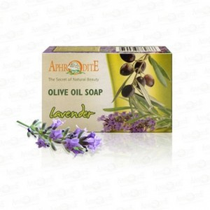 APHRODITE, Натуральное Оливковое мыло с ЛАВАНДОЙ, 100г