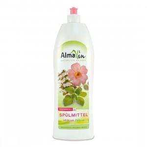 """AlmaWin, Концентрированная жидкость для мытья посуды """"Дикая роза и мелисса"""", 1000 мл"""