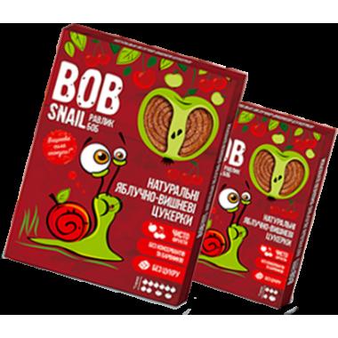 BOB SNAIL Равлик Боб, Натуральні цукерки ЯБЛУЧНО-вишневий, 60г