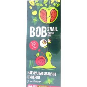 BOB SNAIL Равлик Боб, Натуральные конфетки ЯБЛОЧНЫЕ С МЯТОЙ, 30г