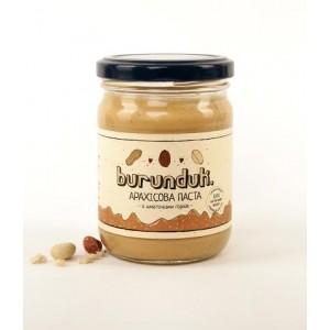 BURUNDUK, Натуральна арахісова паста з шматочками, 250гр