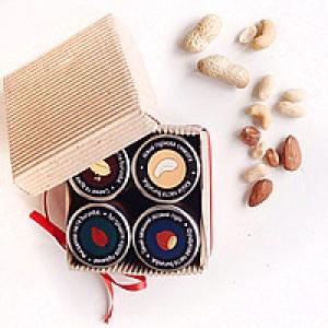 BURUNDUK, Дегустаційний набір натуральних горіхових паст (4х40мл)