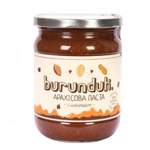 BURUNDUK, Натуральна арахісова паста з Шоколадом, 450гр