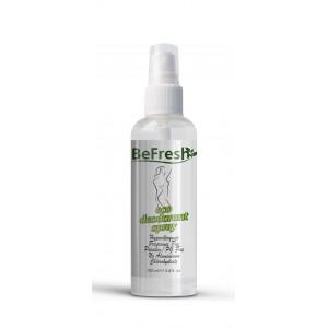 BeFresh, Натуральный дезодорант-спрей для тела женский без запаха, 100 мл