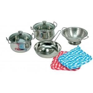 Bino, Набір неіржавіючого посуду для маленького кухаря, 8 елементів