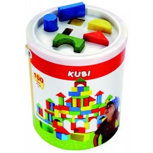 Bino, Відерце з кубиками, 100 деталей