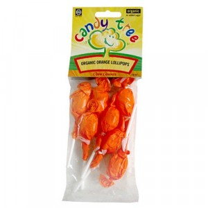 CANDY TREE, Органічні льодяники на паличці апельсинові без глютену, 7 * 10 г