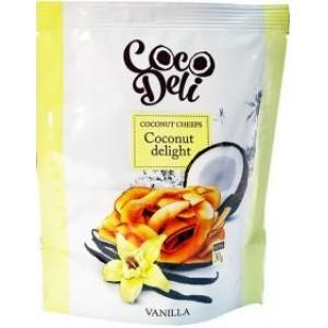 COCODELI, Натуральные кокосовые чипсы со вкусом ВАНИЛИ, 30г