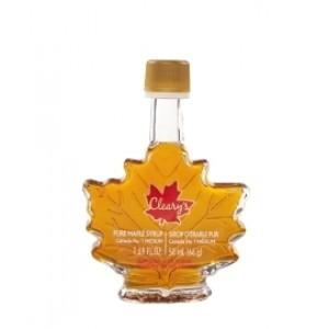 """Cleary's, Чистий канадський Кленовий Сироп СЕРЕДНІЙ, Пляшка """"КЛЕНОВИЙ ЛИСТ"""", CANADA # 1 MEDIUM, 50 мл"""