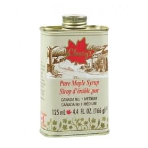 Cleary's, Чистый канадский Кленовый Сироп СРЕДНИЙ, Металлическая фляга, CANADA #1 MEDIUM, 125 мл