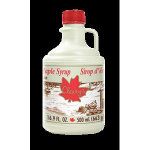 Cleary's, Чистый канадский Кленовый Сироп ТЕМНЫЙ, Сувенирный кувшин, CANADA #2 AMBER, 500 мл