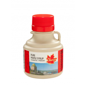 """Cleary's, Чистий канадський Кленовий Сироп СЕРЕДНІЙ, Сувенірний глечик """"QUEBEC CITY"""", CANADA # 1 MEDIUM, 100 мл"""