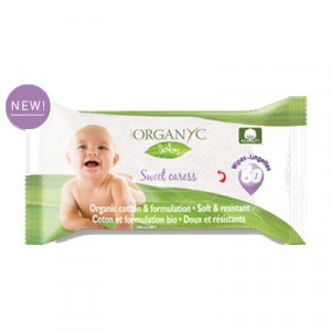 Corman Organyc, Дитячі органічні вологі серветки, 60 шт.