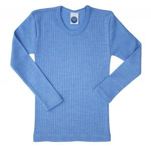 """Cosilana, Кофта с длинным рукавом детская """"тройное качество"""" (45% хлопка, 20% шелка, 35% шерсти), Цвет: Голубой"""